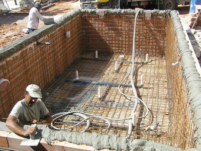 piscina beton turnat