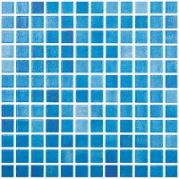 mozaic albastru